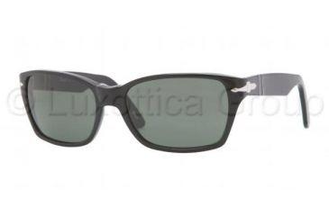 Persol PO3040S Sunglasses 95/31-5618 - Black Frame, Crystal Green Lenses
