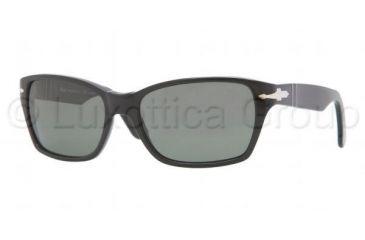 Persol PO3040S Sunglasses 95/58-5618 - Black Frame, Crystal Green Lenses