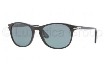 Persol PO3042S Sunglasses 95/4N-5117 - Black Frame, Crystal Blue Photochromic Polarized Lenses
