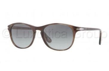 Persol PO3042S Bifocal Prescription Sunglasses PO3042S-972-71-5117 - Lens Diameter 51 mm, Frame Color Havana Brown/Smoke
