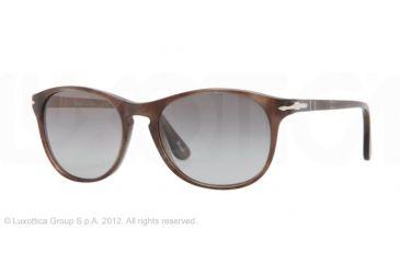 Persol PO3042S Bifocal Prescription Sunglasses PO3042S-972-M3-51 - Lens Diameter 51 mm, Frame Color Brown Havana/Smoke