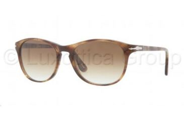 Persol PO3042S Sunglasses 979/51-5117 - Striped Beige Frame, Crystal Brown Gradient Lenses