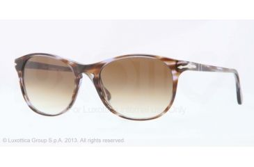 Persol PO3042S Bifocal Prescription Sunglasses PO3042S-998-51-51 - Lens Diameter 51 mm, Frame Color Brown Stripped Violet