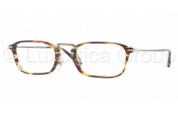 Persol PO3044V Progressive Prescription Eyeglasses 938-5021 - Green Striped Brown Frame