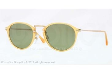 Persol PO3046S Single Vision Prescription Sunglasses PO3046S-204-P1-49 - Lens Diameter 49 mm, Frame Color Yellow