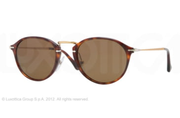 Persol PO3046S Single Vision Prescription Sunglasses PO3046S-24-57-51 - Lens Diameter 51 mm, Frame Color Havana