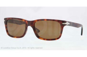 Persol PO3048S Sunglasses 24/57-55 - Havana Frame, Crystal Brown Polarized Lenses