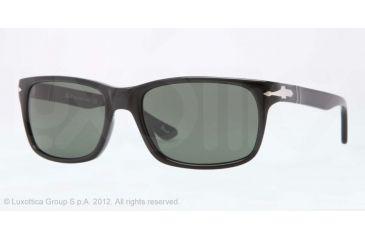 Persol PO3048S Sunglasses 95/31-55 - Black Frame, Crystal Green Lenses