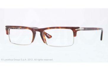 Persol PO3049V Progressive Prescription Eyeglasses 24-52 - Havana Frame, Demo Lens Lenses