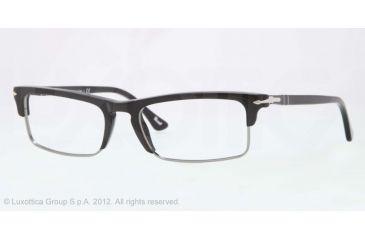 Persol PO3049V Progressive Prescription Eyeglasses 95-52 - Black Frame, Demo Lens Lenses