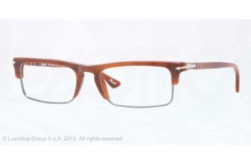 Persol PO3049V Progressive Prescription Eyeglasses 957-52 - Corrugate Brown Frame, Demo Lens Lenses
