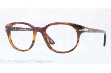 Persol PO3052V Bifocal Prescription Eyeglasses 108-50 - Caffe' Frame, Demo Lens Lenses