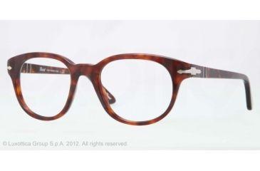 Persol PO3052V Bifocal Prescription Eyeglasses 24-50 - Havana Frame, Demo Lens Lenses