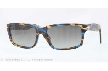 Persol PO3067S Sunglasses 973/71-57 - Brown Spotted Blue Frame, Grey Gradient Lenses