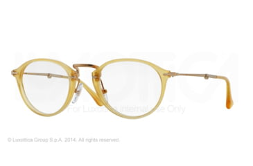 Persol PO3075VM Single Vision Prescription Eyeglasses 204-49 - Transparent Yellow Frame