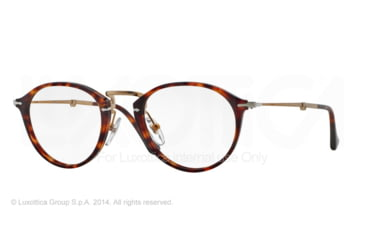 Persol PO3075VM Single Vision Prescription Eyeglasses 24-49 - Havana Frame