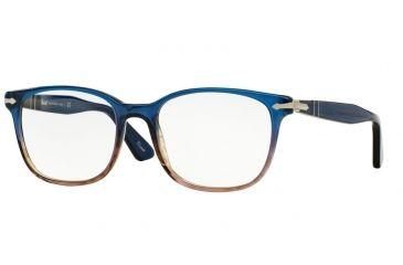 82b3709f9df4 Persol PO3119V Eyeglass Frames 1010-53 - Blue Gradient Brown Frame