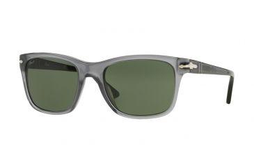 Persol PO3135S Sunglasses 103631-55 - Opal Grey Frame, Green Lenses 120d1f7bba02