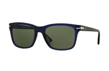 Persol PO3135S Sunglasses 181 31-55 - Blue Frame, Green Lenses 948578f7b2ee