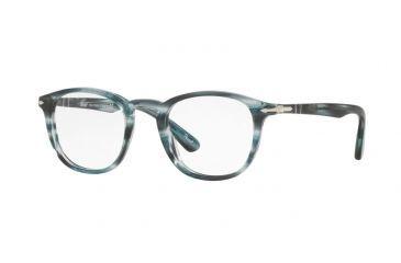 436fe22d97 Persol PO3143V Eyeglass Frames 1051-47 - Striped Grey Frame