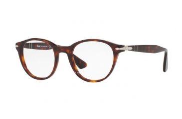 3167e56b02 Persol PO3153V Single Vision Prescription Eyeglasses 24-50 - Havana Frame