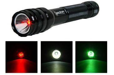 Phoebus Multicolor 1 Watt LED Flashlight/Red/Green/White SPECTRUM