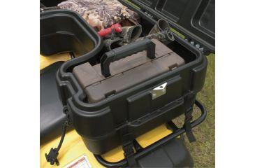 10-Plano Molding Rear Mount ATV Box w/ hinged cover - Black