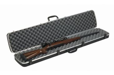 1-Plano Molding Deluxe Single Rifle Case Black 48.25x10 Inch 10101D