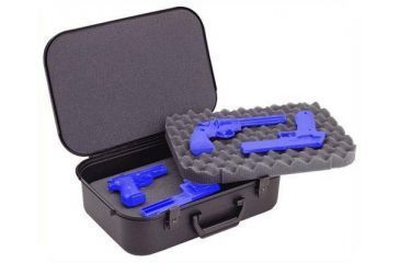 Plano Moulding Plano Black Four Pistol Case w/Key-Lock Latches 10089