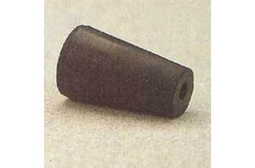 Plasticoid Black Rubber Stoppers, One-Hole 8--M291
