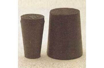 Plasticoid Black Rubber Stoppers, Solid 000M290