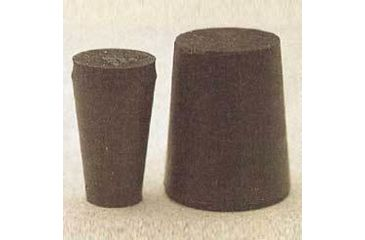 Plasticoid Black Rubber Stoppers, Solid 11-M290
