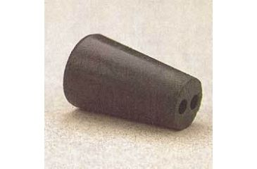 Plasticoid Black Rubber Stoppers, Two-Hole 7--M292