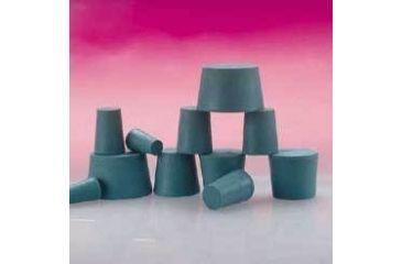 Plasticoid Green Neoprene Stoppers, Solid 0--M350