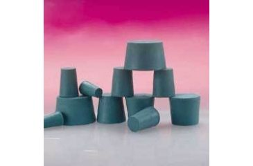 Plasticoid Green Neoprene Stoppers, Solid 4--M350