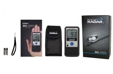 Pocket Radar Pocket Radar Personal Speed Radar Gun and Sports Training Tool, Black, Ball Coach Pro-Level Speed Training Tool, 4.7 x 2.3 x 0.8 in. 5176600206-CE