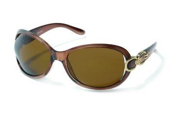 Polaroid Alyson Sunglasses - Brown, Polar Light Brown Lenses PDP8146Y