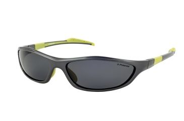 Polaroid Brett Sport Sunglasses - Metallic Grey/Lime Green Frame, Polarized Grey Lenses PDP7000Y