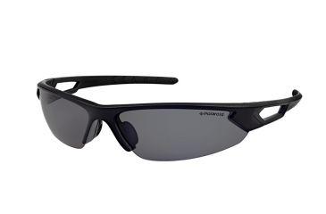 Polaroid Scott Sport Sunglasses - Black Frame, Polarized Grey Mirror Lenses PDP7110X