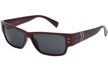 Police 1597 Sunglasses, Black-Burgundy Frame