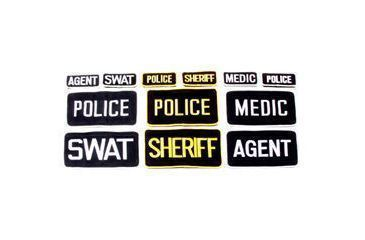 BlackHawk Police Patch W/Velcro 5x8 (10900021) Black/Gold