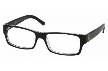Polo PH 2027 Eyeglasses Styles - Top Black/Crystal Frame w/Non-Rx 52 mm Diameter Lenses, 5011-5216
