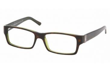 Polo PH 2027 Eyeglasses Styles - Top Havana/Green Frame w/Non-Rx 52 mm Diameter Lenses, 5016-5216