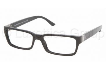 Polo PH 2033 Eyeglasses, Shiny Black Frame w/NonRx 54 mm Diameter Lenses, 5001 5416