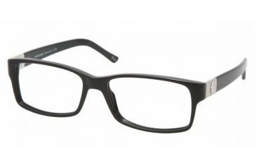 Polo PH 2046 Eyeglasses Styles - Shiny Black Frame w/Non-Rx 54 mm Diameter Lenses, 5001-5416