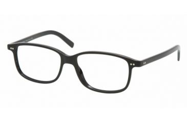 Polo PH 2053 Eyeglasses Styles Shiny Black Frame w/Non-Rx 52 mm Diameter Lenses, 5001-5215