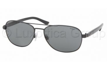 Polo PH 3032 Sunglasses Styles - Shiny Black Gray Frame, 900387-5916