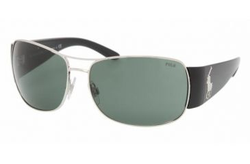Polo PH 3042 Sunglasses Styles Matte Silver Frame / Gray Green Lenses, 900171-6415, Polo Sport PH 3042 Sunglasses Styles Matte Silver Frame / Gray Green Lenses