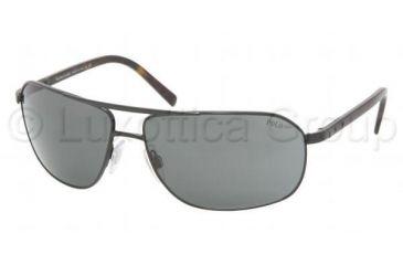 Polo PH 3043 Sunglasses Styles Shiny Black Frame / Gray Lenses, 900387-6314, Polo Sport PH 3043 Sunglasses Styles Shiny Black Frame / Gray Lenses