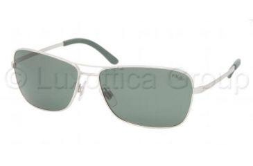 Polo PH 3044 Sunglasses w/ Aluminium Frame / Green Lenses, 911771-6215